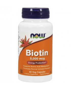 Now Foods, Biotin 5,000mcg 60caps